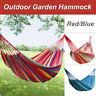 Garden Camping Canvas Stripe Hammock Lightweight Hang Bed Outdoor Travel Swing