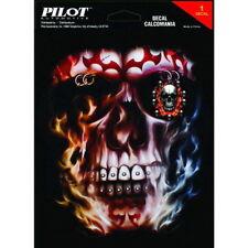 Pilot / Bully Flaming Skull GR-466 LT-88147 Sticker Decal