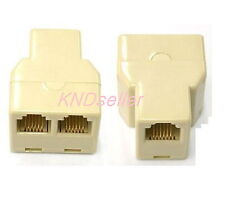 5 PCS RJ12 6P6C 1 to 2 Y Type FEMALE ADAPTER  SPLITTER Extension Joiner Phone