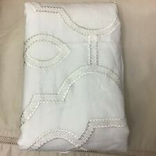 Hotel Collection Inlay 2Pc Standard Sham White Tone Geometric