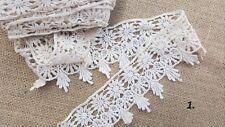 2m Vintage Cotone crochet pizzo bordo CREMA Nastro matrimonio/decorazione torta