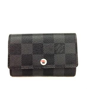 Louis Vuitton Damier Graphite Multicles 6 Ring Key Case /E1385
