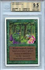 MTG Unlimited Wild Growth BGS 9.5 Gem Mint Magic The Gathering WOTC Quad 8251