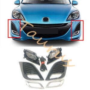 1 Set Front Bumper Fog Light Assembly (With Bulb) For Mazda 3 2010-2011