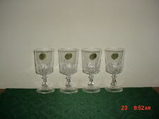 """4-PIECE CRISTAL D'ARQUES """"CRYSTAL"""" 5 3/8"""" WINE GLASSES/SEAL/FRANCE/FREE SHIP!"""