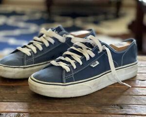Vtg Vans Ferris Navy Blue Canvas Skate Sneakers 9 Men 10.5 Women Lace Up Shoes