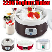 220V Mini Yoghurt Maker Full Automatic Natto Rice Wine Yoghurt Smart  ~