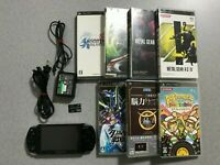 SONY Playstation PSP 2000 Piano Black Console with 7games Japan