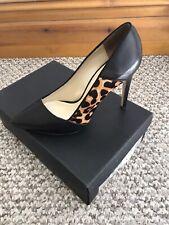 Karen Millen Leopard Print Stiletto Leather Shoes 6 Boxed