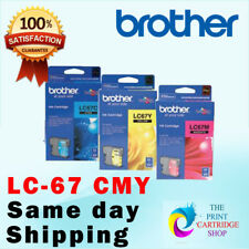 New & Original Brother LC67 CMY Ink Cartridge MFC-990CW MFC-795CW DCP-J715W