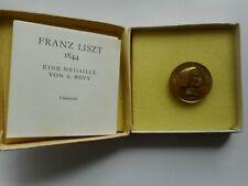 Faksimile-Medaille Franz Liszt von A.Bovy,Faksimile H. König+H.Bittner   (28)