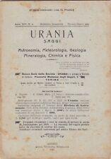 Urania, rivista, 1925, anno XIV n. 6, astronomia, mineralogia, chimica, fisica