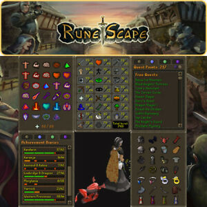 Max Combat Main   1910 Total   217 QP   Currupted Pet   OSRS   Delivery 24 hours