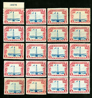 US Stamps # C11 F-VF Lot of 20 OG NH Scott Value $200.00