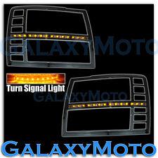 07-13 Chevy Silverado Black Headlight Trim Cover+White LED+Smoke lens+Turn Light