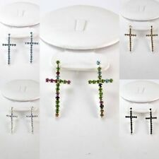 12 PR WHOLESALE LOT Dangle Chandelier Small Cross Costune Fashion Earrings