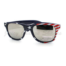 USA Flag Sunglasses Red White and Blue Star Spangled Banner Print NAVY