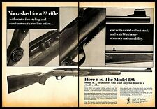 1975 Winchester Model 490 22 Rifle Vintage PRINT AD Solid Walnut Stock 1970s