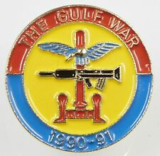 GULF WAR VETERANS 1991 OP GRANBY HAND MADE CLASSIC TRI COLOUR LAPEL PIN BADGE