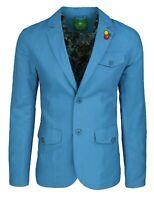 Giacca uomo in lino Classic celeste elegante 2 bottoni blazer man's Jacket