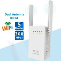 300Mbps Wireless-N Range Extender WiFi Repeater Signal Booster Network Router TO