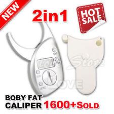 OZ Body Fat Caliper Electronic Digital + Tape Measure Pack Skin Muscle Tester