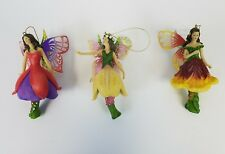 Ashton Drake Galleries Butterfly Faerie Ornaments Morning Glory Primrose Azalee