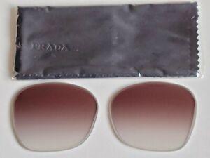 Brand New Women's PRADA Brown Gradient Lens Replacements PR12XSF 54mm.