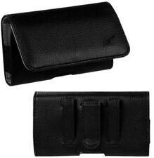 Mundaze Leather Belt Clip Pouch Carrying Case For ZTE Overture