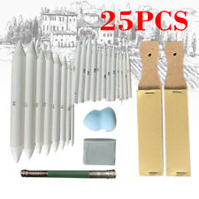 25pcs Blending Paper Stumps Art Drawing Stump Eraser Extender Sketch Kits