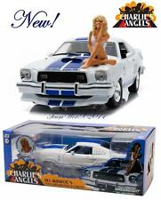 Charlie's Angels 1976 Ford Mustang Cobra II Diecast Car and Farrah Figure 1:18