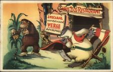 Dutch Fantasy Anthropomorphism Series Doremias Das Badger & Gorilla Postcard