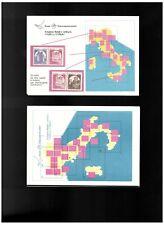 FOLDERINO PIEGHEVOLE CASTELLI D'ITALIA EMISSIONE 1980  **  NUOVO MNH