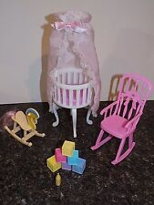 barbie DOLLHOUSE FURNITURE SIZE BABY HOME NURSERY  PLAYSET FOR BARBIE
