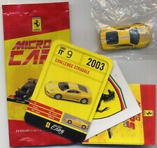 Micro Cars 2013 FERRARI CHALLENGE Stradale #09 card+sticker+bag+bpz 1/100 Kyosho