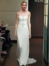 AUTHENTIC Badgley Mischka Mercury Ivory Silk NEW Wedding Dress 4 RETURN POLICY