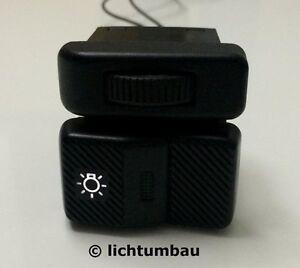 VW Polo 86C 2F Lichtschalter WEIß BLAU ROT beleuchtet LED Schalter