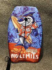 Big Lizard 28� Shark Boogie Board Bodyboard With Leash