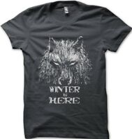 GOT Game Of Thrones inspired WINTER is HERE  grey printed t-shirt FN9625