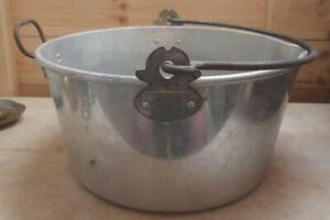"Large Vintage Aluminium Swan Brand Jam / Preserve / Cooking Pot -  14"""