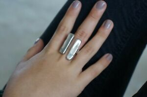 """NEW Engraved Uno De 50 """"Unblocked"""" Unisex Stamped Silver 11 Statement Ring 9 XXL"""