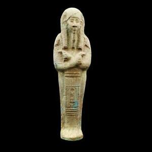 Amazing Antique Egyptian Faience Stone Ushabti (Shabti) Statue Figure