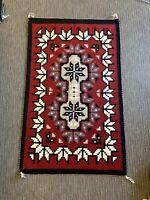 Navajo rug, Ganado; Snowflake pattern; Linda Yazzie