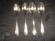 4 X ANTIQUE WMF OSTRICH STAMP SMALL SILVER PLATED COFFEE SPOONS I/O
