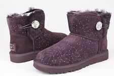 UGG AUSTRALIA WOMENS MINI BAILEY BUTTON BLING CONSTELLATION LODGE SIZE 7 US