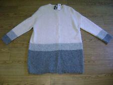 Marc Cain Chaqueta. RRP £ 295., mezcla de lana de alpaca. tamaño N5 o 16 a 18. Gris, Crema