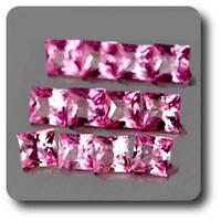 SAPHIR ROSE . 0.06 cts. 2 MM. IF - VVS1 ( vendu à l'unité ) Ceylan, Sri Lanka