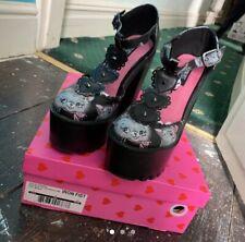 Iron Fist Cat Lady Pussycat Kitty Kitten Women's Super Platform Heels Shoes UK 5