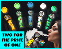 """PERK /& FREE EXTRAS 8/"""" TOBACCO HOOKAH WATER PIPE WITH GLASS BOWL"""