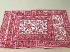 8 William Sonoma Outlet Paisley Placemats